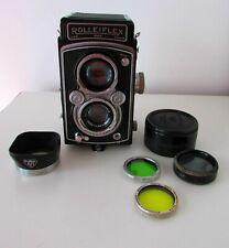 ANTIQUE ROLLEIFLEX DRP DRGM FRANKE&HEIDECKE CAMERA N°960678 TESSAR 3,5/7,5mm