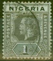 Nigeria 1917 1s Pale Olive Back SG8d V.F.U