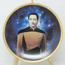 Star Trek The Next Generation Lieutenant Commander Data Collector Plate w/Coa