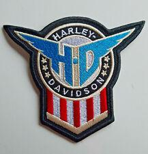 Harley Davidson Schild US Style Patch Aufnäher Biker Größe 9,5 x 8 cm