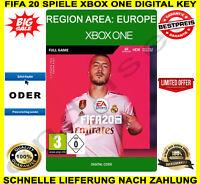 FIFA 20 Xbox One Spiel 🔑 Digital Code Key Region EU (EUROPE) Blitz Versand ⚽ 🎮
