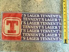 """Tennent'S Lager Red White Blue Promo Bar Towel 18"""" x 8"""""""