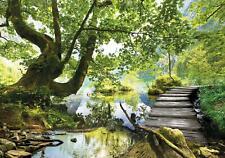 Vlies Fototapete Baum Landschaft Natur Wald Wohnzimmer Tapete Wandtapete Wasser