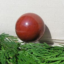 Red Jasper Solid Crystal Gemstone Sphere - 40mm Diameter Complete with Stand