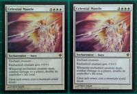 2X MTG MAGIC THE GATHERING CELESTIAL MANTLE ZENDIKAR WHITE ENCHANTMENT RARE NM
