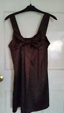 Miso Brown Satin ladies top/dress size 10
