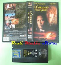 VHS film IL CORAGGIO DELLA VERITA' 1997 Denzel Washington Meg Ryan (F84)**no dvd