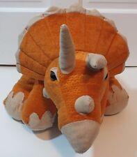 "Triceratops Dinosaur Plush Animal Adventure Stuffed Animal Orange Toy 24"" Big"