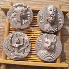 Pharaoh Ancient Copper Coins Silicone Fondant Cake Sugarcraft Decor Mould Tool B