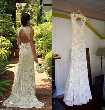 Ivory White Lace Wedding Dress Bridal Gown Custom Size 4 6 8 10 12 14 16 18 ++