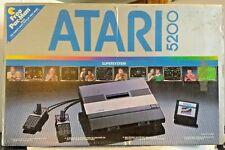 Atari 5200 Super System 2 Port Original Box Controllers Power Supply Switch Box
