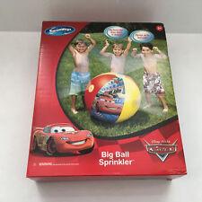 swimways disney pixar cars big ball sprinkler kids outdoor water yard sprinkler