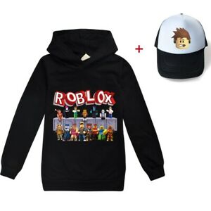 Boys Girls Kids ROBLOX Sweatshirts Hoodies + hat Pullover Cotton Casual Clothing