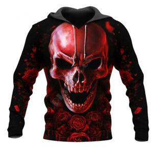 Skull Warrios Tattoo 3d Print Hoodie Men/Womens  Hoodie Sweatshirt Pullover Tops