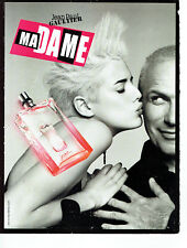 Publicité Advertising 058  2009   parfum Madame Agyness Deyn & JP Gaultier