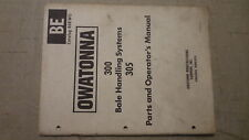 Owatonna 300 Bale Handling Systems Parts and Operators Manual Cat. 468WO