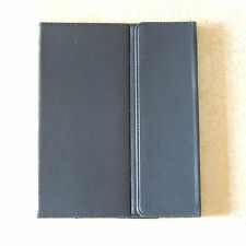"""NAVY BLUE ULTRA SLIM New I PAD Case Holder  9 3/4 X 7 7/8 """"  LEATHER  {NOT FAUX}"""