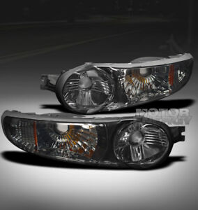 00-06 GMC YUKON XL/01+ SIERRA DENALI BUMPER SIGNAL LIGHTS SMOKE/AMBER LEFT+RIGHT