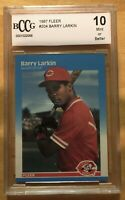 Barry Larkin Rookie Grade 10 1987 Fleer #204 BCCG