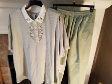 Womens Koret Francisco Nwt top size 2X, Preowned pants size 20W short sage green