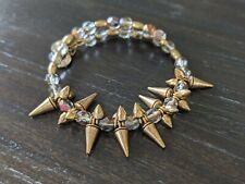 Alex and Ani Gold and Crystal Spike Bracelet