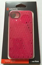 Apple Iphone 5 5S Genuine Griffin case cover soft flexgrip punch pink silicone