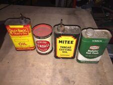 Riley Bros Kendall Grease Mitee Oil & 1968 TEXACO Radiator Flush Vintage Cans