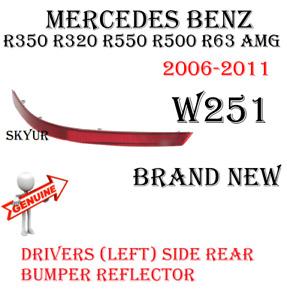 Drivers Left Side Rear Bumper Reflector For Mercedes R350 R320 R500 R63 GENUINE
