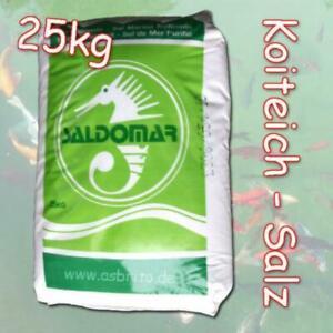 25kg Salz Koiteich Koi Teichsalz Koiteichsalz Meersalz Fische Fisch Teichpflege