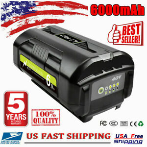 For Ryobi 40V 6.0Ah Replacement Battery High Capacity Lithium OP4050 OP40602 US