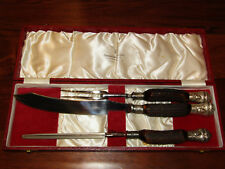 RARE Harrison Bros & Howson Stag Handle Vintage Carving Set