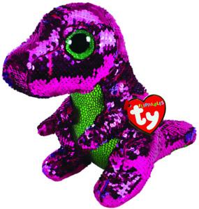 NEW TY Beanie Boo Flippables Stompy Dinosaur Medium Kids Children Toy AU