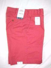 Izod Saltwater Mens Red Chino Khaki Casual Classic Shorts Size 32 Inseam 9.5 $55