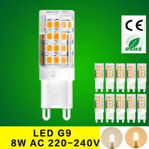 SMD G9 8W led bulb 220V Cold/Warm White Capsule light replace halogen desk lamp