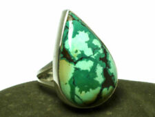 Turquoise Statement Sterling Silver Fine Rings