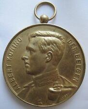 Medaille König von Belgien Albert I Bronze
