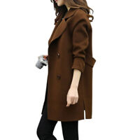 New Women's Fashion Overcoat Woolen Trench Coat Ladies Winter Long Jacket Warm
