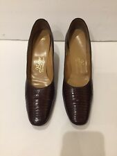 Berne Vintage Womens Shoes Made In Switzerland Lizzard Skin Size 9 1/2