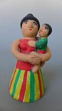 "Vintage Mexican Chiapas ceramic folk art mother & child 4 3/4"" tall"