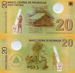 Nicaragua 2009 P202 Polymer 20 Cordobas Banknote Money UNC X 10 Piece Lot