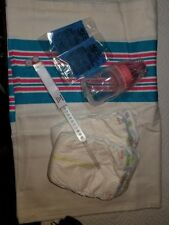 Reborn baby girl hospital starter kit, bottle, blanket, bracelet, diapers, wafer