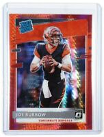 2020 Panini Donruss Optic Joe Burrow Red Hyper Rated Rookie RC