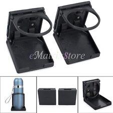 2 x Universal Adjustable Folding Cup Drink Holder CAR TRUCK BOAT VAN Plastic