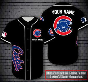 Chicago Cubs Black Baseball Jersey - Custom Fanmade Jersey Shirt
