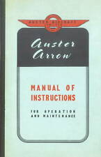 AUSTER ARROW - INSTRUCTIONS OPERATION AND MAINTENANCE