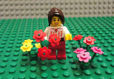 LEGO Minifigure Girl Lot People Town City Female Toys Lady Lego Minifig Flowers