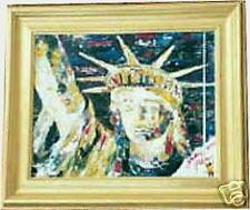 Yakov Smirnoff embellished giclee on canvas, Sweet Lady Liberty