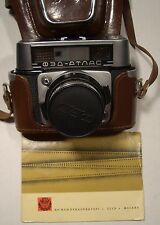 VINTAGE COLLECTIBLE RUSSIAN FED ATLAS 35mm RANGEFINDER CAMERA WHOLE PACKAGE MINT