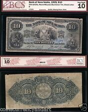 1929 $10 Bank of Nova Scotia Chartered banknote