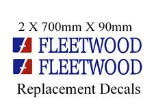 Fleetwood caravan camper  motor-home names stickers decals set of 2